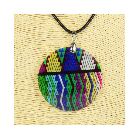 Pendant necklace 5 cm Natural Mother of Pearl Fashion Design L48cm New Collection 76262