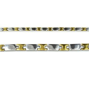 Bracelet gourmette en Acier Inoxydable Collection 2019 Gold & Silver 8mm 20.5cm 76403