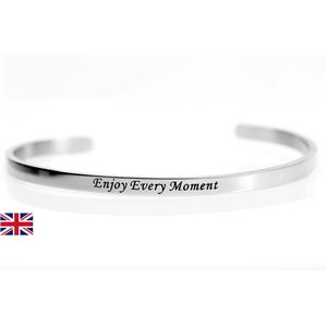 stainless steel message bracelet 76422 Message: Enjoy Every Moment