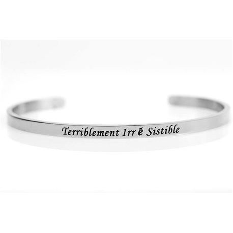 stainless steel message bracelet 76430 Message: Terriblement Irrésistible