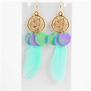1p Boucles Oreilles Pendantes à crochet 10cm Original Collection Plumes 2019 76495