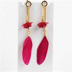 1p Boucles Oreilles Pendantes à clou 11cm Original Collection Plumes 2019 76473