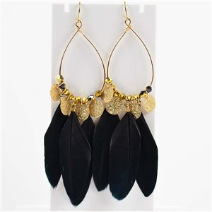 1p Boucles Oreilles Pendantes à crochet 11cm Original Collection Plumes 2019 76496