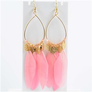 1p Boucles Oreilles Pendantes à crochet 11cm Original Collection Plumes 2019 76499