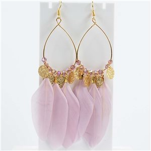 1p Boucles Oreilles Pendantes à crochet 11cm Original Collection Plumes 2019 76500