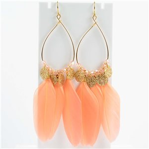 1p Boucles Oreilles Pendantes à crochet 11cm Original Collection Plumes 2019 76501