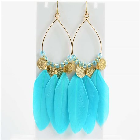 1p Earrings Hanging hook 11cm Original Collection Feathers 2019 76503