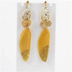 1p Boucles Oreilles Pendantes à clou 9cm Original Collection Plumes 2019 76512