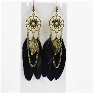 1p Boucles Oreilles Pendantes à crochet 10cm Original Collection Plumes 2019 76477
