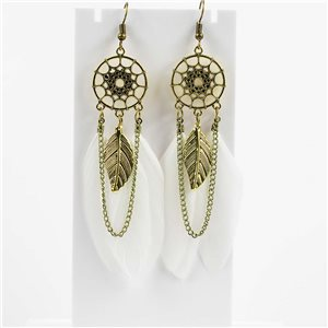 1p Boucles Oreilles Pendantes à crochet 10cm Original Collection Plumes 2019 76478