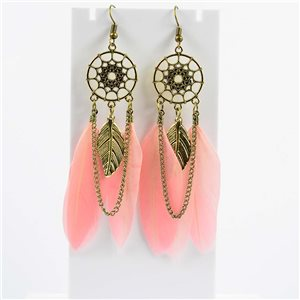 1p Boucles Oreilles Pendantes à crochet 10cm Original Collection Plumes 2019 76480