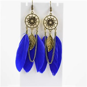 1p Boucles Oreilles Pendantes à crochet 10cm Original Collection Plumes 2019 76481