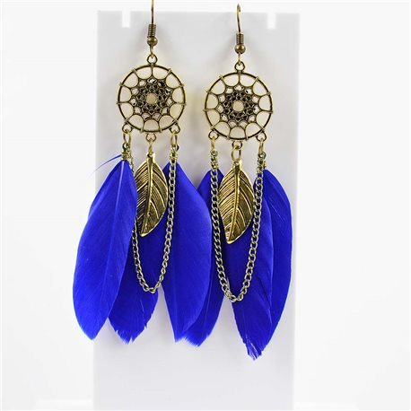 1p Earrings Hanging hook 10cm Original Collection Feathers 2019 76481