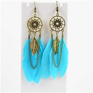 1p Boucles Oreilles Pendantes à crochet 10cm Original Collection Plumes 2019 76482