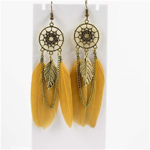 1p Boucles Oreilles Pendantes à crochet 10cm Original Collection Plumes 2019 76483