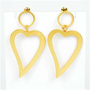1p Earrings Nail 50mm metal color GOLD New Graphika Trend 76548