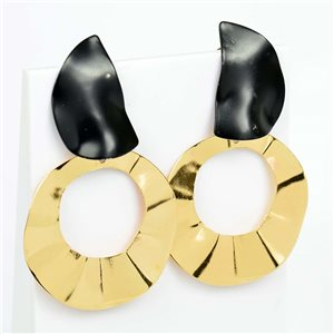 1p Earrings Nail 50mm metal color GOLD New Graphika Trend 76532