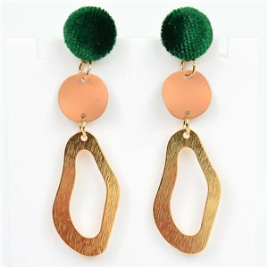 1p Earrings Nail 55mm metal color GOLD New Graphika Trend 76526