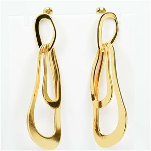 1p Earrings Nail 60mm metal color GOLD New Graphika Trend 76540
