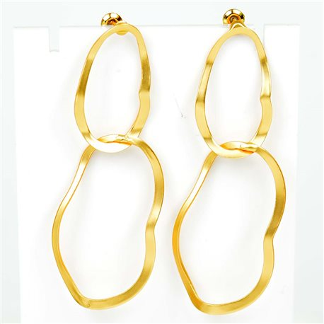 1p Earrings Nail 60mm metal color GOLD New Graphika Trend 76546