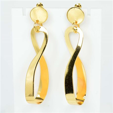 1p Earrings Nails 65mm metal color GOLD New Graphika Trend 76542