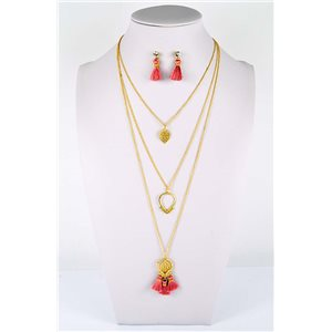 Adornment Collection Pompon 2019 Necklace long necklace multi strand golden L48cm 76578