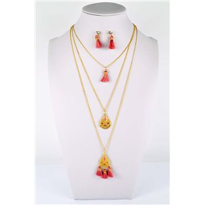 Adornment Collection Pompon 2019 Necklace Long necklace multirang golden chain L48cm 76594