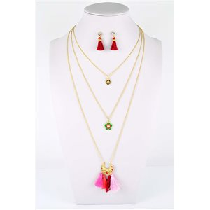 Adornment Pompom Collection 2019 Necklace Multirang chain necklace gold L48cm 76599