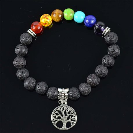 Lucky Stone Charms Bracelet Charms Collection Tree of Life 76616