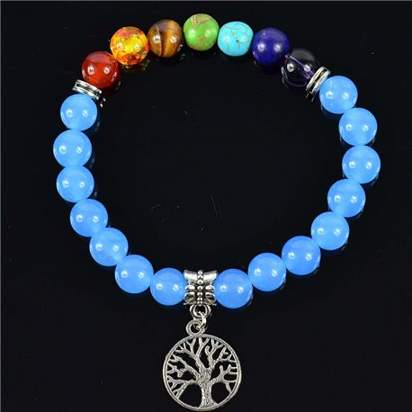 Blue Aventurine Stone Charm Bracelet Charms Collection Tree of Life 76621