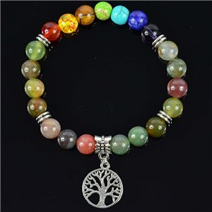 Agate Agate Agate Charm Bracelet Collection Charms Tree of Life 76623