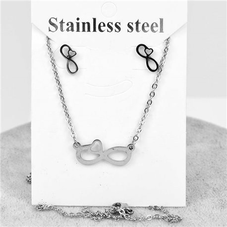 Pretty infinite adornment in stainless steel. Chain pendant 51cm with 1p of BO to nail 76648