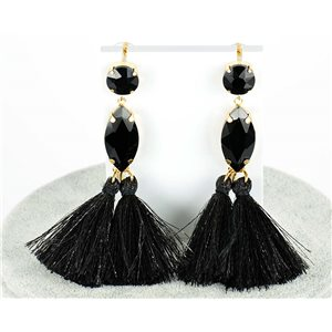 1p Boucles Oreilles Pendantes à clou 9cm New Collection Pompon 2019 76683