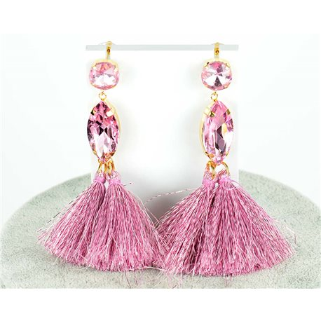 1p Drop Earrings 9cm New Collection Pompon 2019 76686