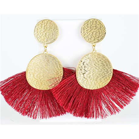1p Drop Earrings with nail 10cm New Collection Pompon 2019 76704