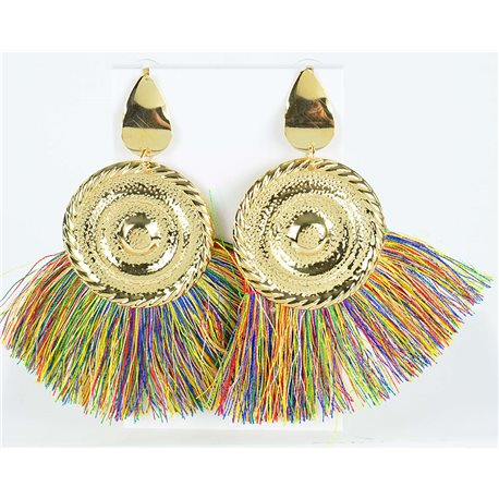 1p Drop Earrings with nail 10cm New Collection Pompon 2019 76709