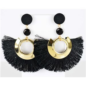 1p Boucles Oreilles Pendantes à clou 8cm New Collection Pompon 2019 76711