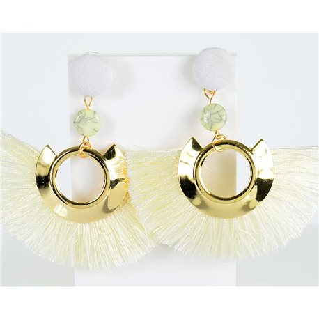 1p earrings pendant with nail 8cm New Collection Pompon 2019 76712