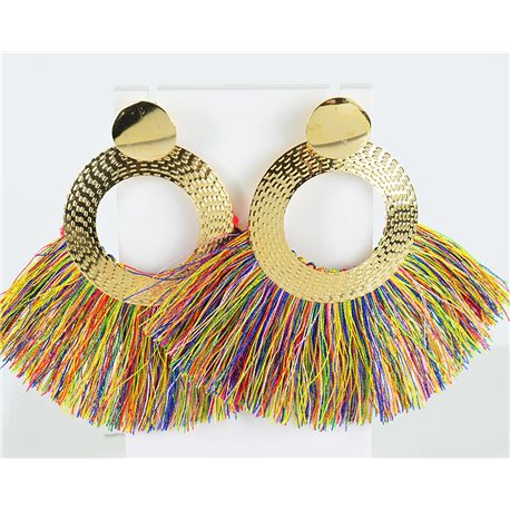 1p Earring Drop Earrings 8.5cm New Collection Pompon 2019 76717