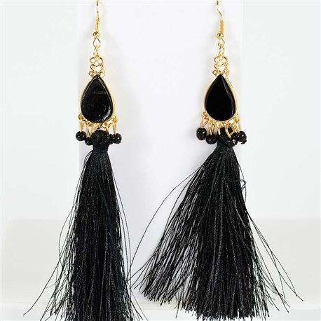 1p Boucles Oreilles Pendantes à crochet 13cm New Collection Pompon 2019 76723