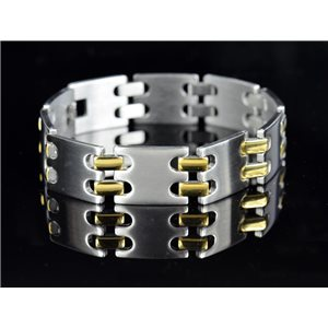 Bracelet in Stainless Steel Collection 2019 Gold & Silver 16mm 22cm 76409