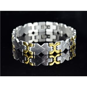 Bracelet in Stainless Steel Collection 2019 Gold & Silver 12mm 22cm 76406