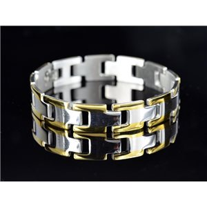 Bracelet bracelet in Stainless Steel Collection 2019 Gold & Silver 12mm 21cm 76640