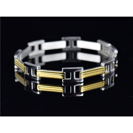 Bracelet in Stainless Steel Collection 2019 Gold & Silver 10mm 21.5cm 76401