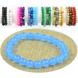 Blue Aventurine Stone Beads Bracelet 8mm on elastic thread 76891