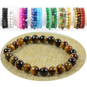 8mm Tiger Eye Beads Bracelet with Elastic Wire 76901