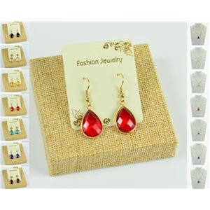 1p Earrings Golden 30mm Crochet Collection Crystal Color 76948