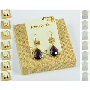 1p Earrings Golden 30mm Crochet Collection Crystal Color 76951