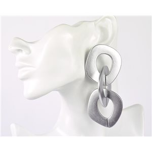 1p de Boucles Oreilles Pendantes à Clou 10cm en acrylique Fashion Colors 76952