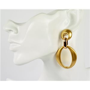 1p de Boucles Oreilles Pendantes à Clou 7cm en acrylique Fashion Colors 76977